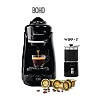 Bonhomia Boho Wipp It 1300-Watt Espresso Machine (Black)