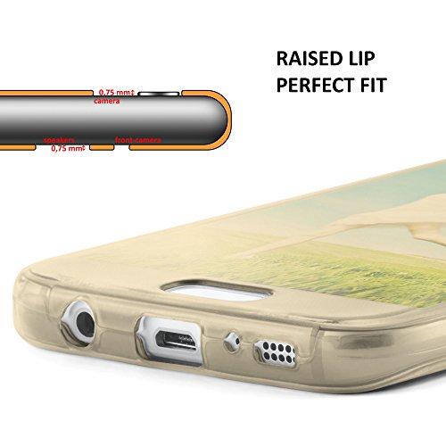 iPhone 4S Hülle Silikon Transparent 360 Grad [OneFlow Double Side Cover] Dünne Schutzhülle Slim Handyhülle für iPhone 4/4S Case Türkis Silikonhülle TPU GOLD