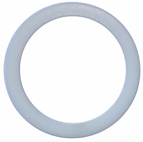Aerzetix: 2 X Weißes technisches Dichtung im PTFE 22mm 2mm 27mm -120...250°C PG16