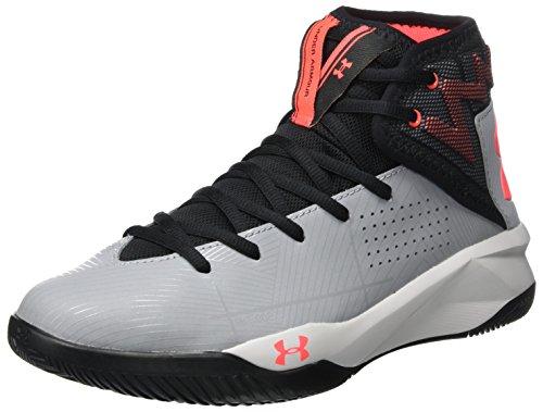 Under Armour UA Rocket 2, Zapatos de Baloncesto para Hombre, Gris (Steel), 42.5 EU