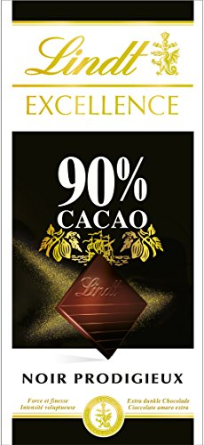 Lindt Excellence Noir 90% 100 g - Lot de 5