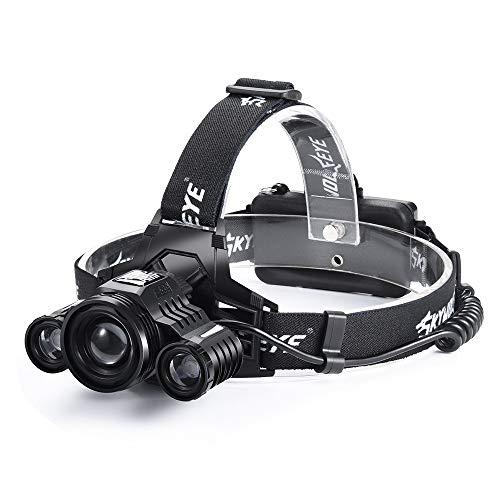 Scheinwerfer, 3X XM-L T6 LED Scheinwerfer Scheinwerfer Taschenlampe Wiederaufladbare Taschenlampe, 80000 Lumen, für Outdoor Sport oder Geschenke Taschenlampe Scheinwerfer Scheinwerfer