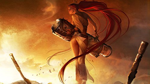 Athah Designs Wall Poster 13*19 inches Matte Finish Heavenly Sword Beautiful Warrior CGI Game Ps3 Hair Smoke Blonde  available at amazon for Rs.249