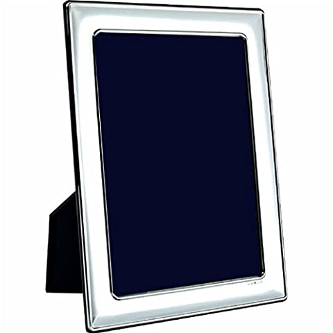 Carrs Silver Plain Photo Frame 8 x 6 Wood Back can stand portrait or landscape