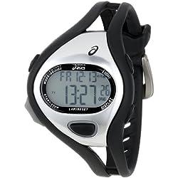Asics CQAR0501 - Reloj digital de cuarzo unisex con correa de silicona, color negro