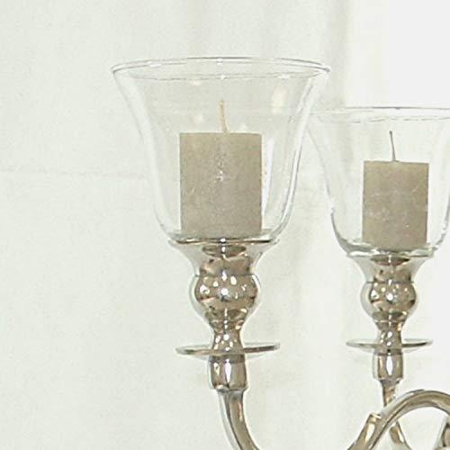 Dekowelten 1 x Glasaufsätze 11cm Windlicht, Windlichtaufsatz Teelichtaufsatz Partylicht für Hochzeiten, Events & Home