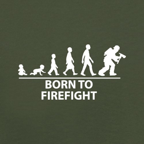 Born To Firefight - Herren T-Shirt - 13 Farben Olivgrün