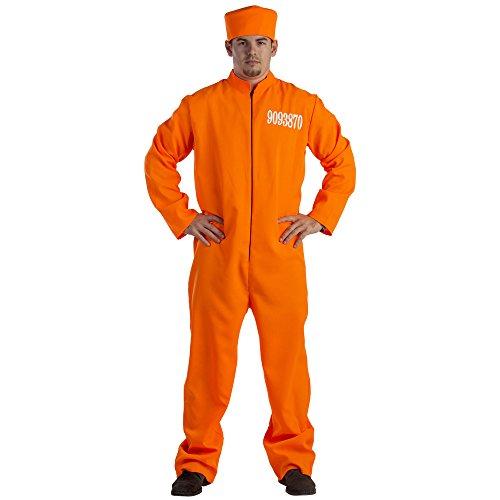 Dress Up America Erwachsenes Gefangenenkostüm