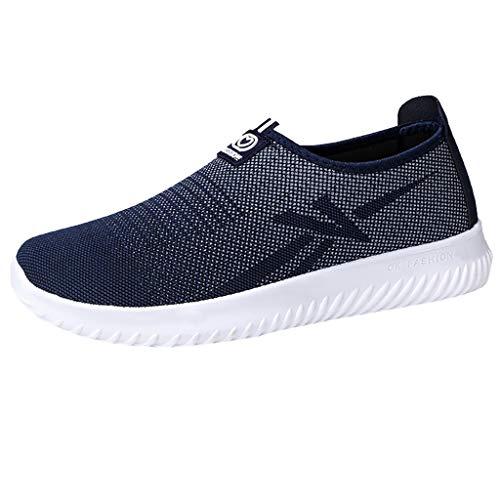 Scarpe Uomo Sportive Leggere Sneaker da Ginnastica Senza Lacci Slip-On Outdoor Casual Shoe Scarpe Traspiranti A Rete Traspirante