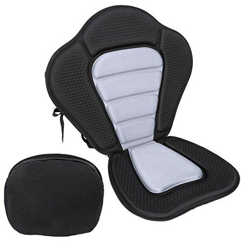 Kanusport Sitzstuhl, Rutschfest Verstellbare Rafting Kajakfahren Rückenlehne Sitz mit bnehmbaren Sitzbeutel Tasche Weich