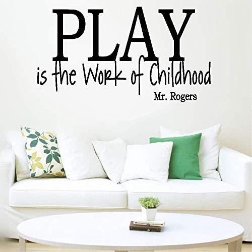 stickers muraux brique Nursery Wall Decal Quotes Play est le travail de l'enfance pour la salle de jeux Nursery Kids Room