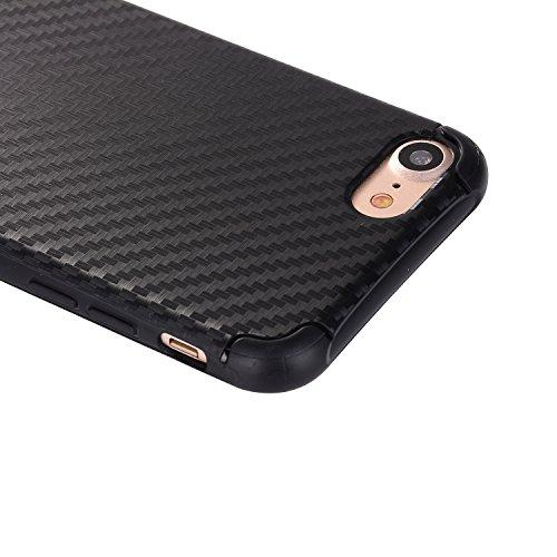 """iPhone 7 Hüllen, iPhone 7 Premium Softcase, CLTPY Ultradünn Air Cushion Stoßfest Schutz Fall, Luxus Camo Motiv Stoßfest Handytasche für 4.7"""" Apple iPhone 7 + 1 x Stift - Grau + Schwarz Schwarz"""