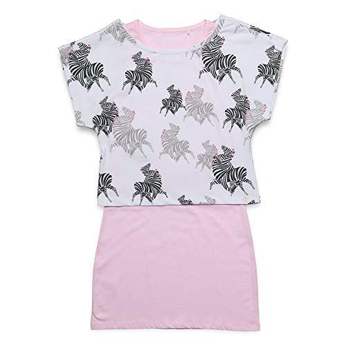 ESPRIT KIDS Mädchen Knit Dress SS Kleid, Rosa (Blush 310), 152 (Herstellergröße: M)