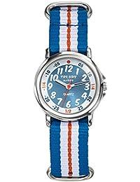 Trendy Kiddy - KL364 - Montre Garçon - Quartz Analogique - Cadran Multicolore - Bracelet Nylon Multicolore