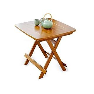 AJS Folding Praxis Stabile Hochwertige Bambus Tisch Bett Tablett Laptop Sofa Frühstück Buch Lesen Notebook Stand A+ (größe : 80x80cm)