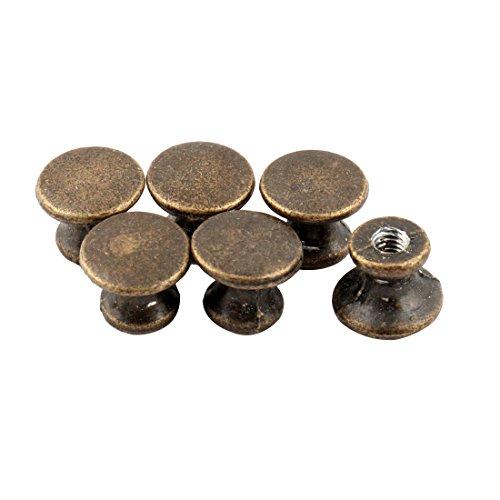 Preisvergleich Produktbild sourcingmap 6 Stk Schranktür Metall Einloch Türgriffe Bronze Ton 1.3cm Höhe
