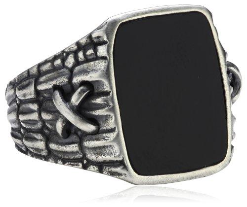 caï men Herren-Ring 925 Sterlingsilber vintage-oxidized Onyx schwarz Gr. 67 (21.3) C4039R/90/13/67