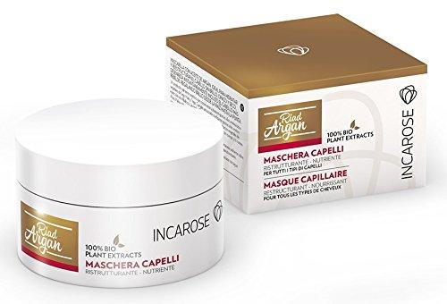 IncaRose Riad Argan–Máscara de 200ml, para idratare y ristrutturare I pelo spenti, Mate y cubos sin appesantire–[Kit con jabón natural quizen (Incluye]