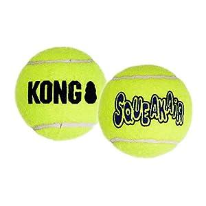 Diese Tennisbälle inkl. Quitscher sind das ideale Apportier-Spielzeug für Ihren Vierbeiner.