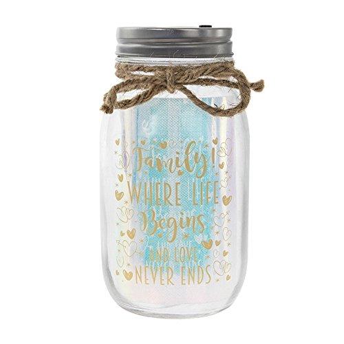 Lesser & Pavey LED Licht, bis Firefly Glas Fairy Mason Jar Familie Geschenk Where Life Begins