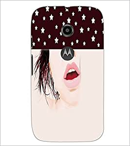PrintDhaba Face D-5353 Back Case Cover for MOTOROLA MOTO E2 (Multi-Coloured)