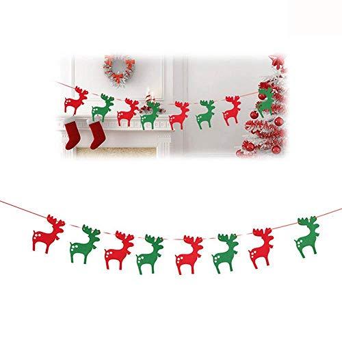 LMSHM Weihnachts Dekoration Weihnachtsdekoration Banner Flagge Neues Jahr Party Dekoration Schneemann Fallschirm Flaggen Girlanden Weihnachtsdekor,B (Neue Jahr Banner)