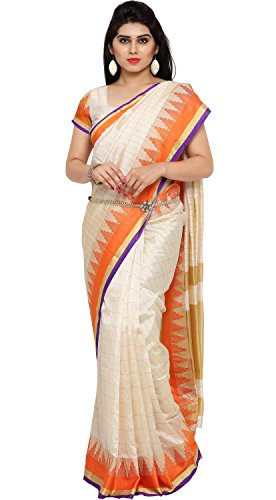 Ethnicjunction Art Silk Saree (Ej1162-103_White)