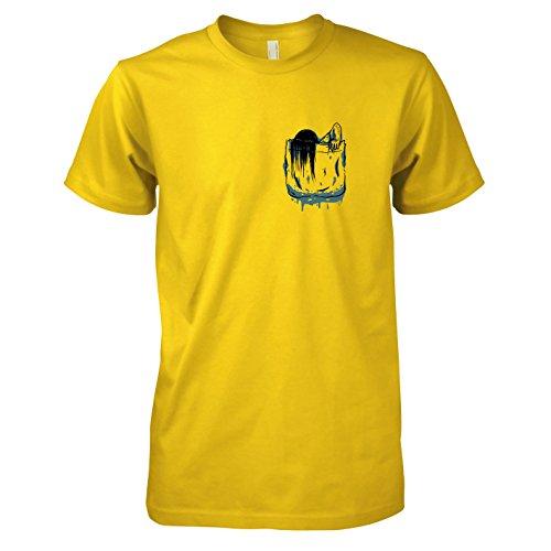 Ringu Kostüm (TEXLAB - Brusttasche Ring - Herren T-Shirt, Größe XXL,)