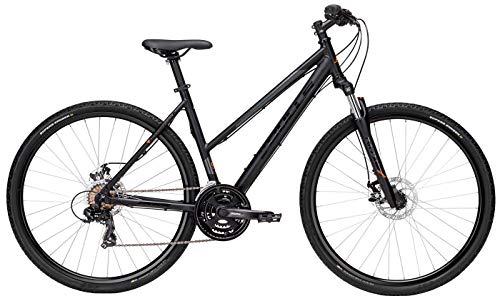 Damen Fahrrad 28 Zoll - Bulls Wildcross - Shimano 21-Gang Kettenschaltung, Suntour Federgabel, schwarz matt/orange