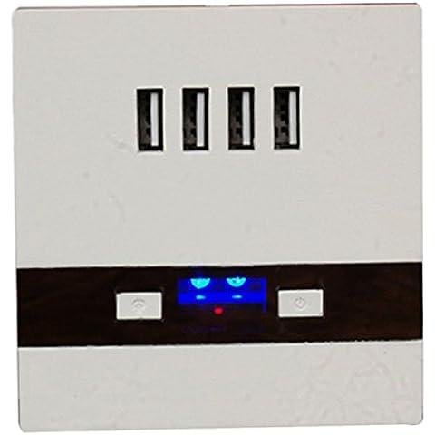 DEHANG DSX-076-5 V 3A 3000mA-4 porte USB-Caricabatteria da presa a