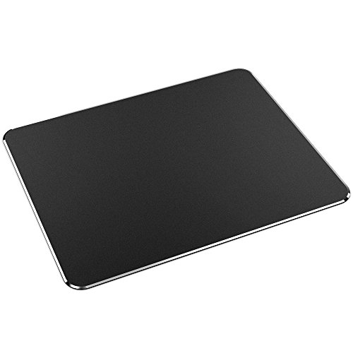 Mouse Pad, Nulaxy Gaming Aluminum Mouse Pad W Non-Slip Rubber Base & Micro Sand Blasting Aluminum Surface for Fast and Accurate Control - Black by Nulaxy