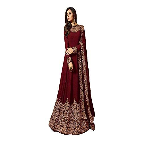 Sretan Party Wear Designer Gown for women (Red)