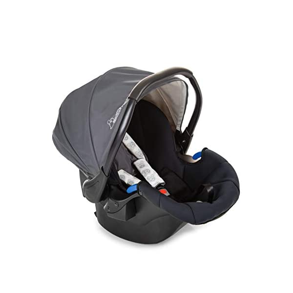 Hauck Rapid 4 X Plus Trio Set, 3-in-1 Travel System from Birth Up To 25 kg, Infant Car Seat Group 0, Carrycot and Buggy, One Hand Fold, Height-Adjustable Push Handle, Lying Position, Mickey Cool Vibes  3 in 1 stroller set. includes pushchair, carry cot and group 0+ car seat. Rapid fold system. the one hand fold system makes this pushchair ideal for shopping trips, and it folds small enough to fit in most car boot Optional isofix base.  the group 0+ car seat is compatible with the hauck comfort fix car seat base. 16