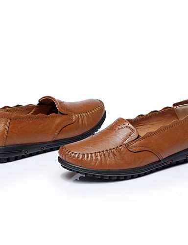 ZQ Scarpe Donna Di pelle Piatto Comoda/Ballerina Ballerine/Mocassini Tempo libero/Casual/Sportivo Marrone , brown-us8.5 / eu39 / uk6.5 / cn40 , brown-us8.5 / eu39 / uk6.5 / cn40 brown-us6.5-7 / eu37 / uk4.5-5 / cn37