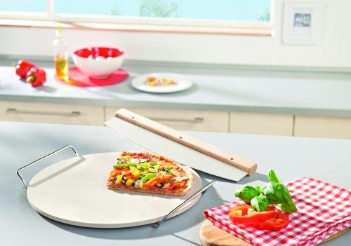 Leifheit Dr. Oetker 3159 - Piedra Redonda para Pizza con tajadera