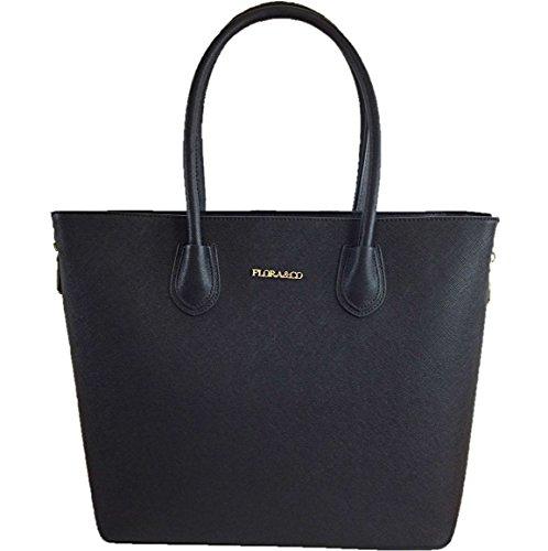 CAPRIUM Handtasche, Shopper, Tasche, Schultertasche, Premium Qualität, Damen 000F9246 Schwarz