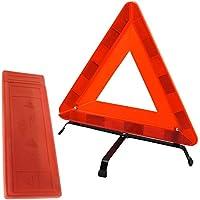 TekBox Faltung Auto Warnung Sicherheit Triangle in Schutzhülle aus Kunststoff/reflektierend rot Hazard EU Notfall Breakdown für Auto, Van, Truck, LKW