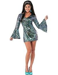 Reino Unido 10 – 14 años 70 Boogie Down Babe disfraz adultos 1970s Retro – Disfraz de disco