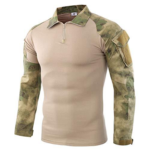 Dragon868 Herren Taktik Camouflage langärmelbeefy Muskel grundsolide Bluse t-Shirt Top -