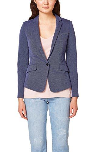 ESPRIT Collection Damen Anzugjacke 038EO1G002, Blau (Dark Blue 405), 36