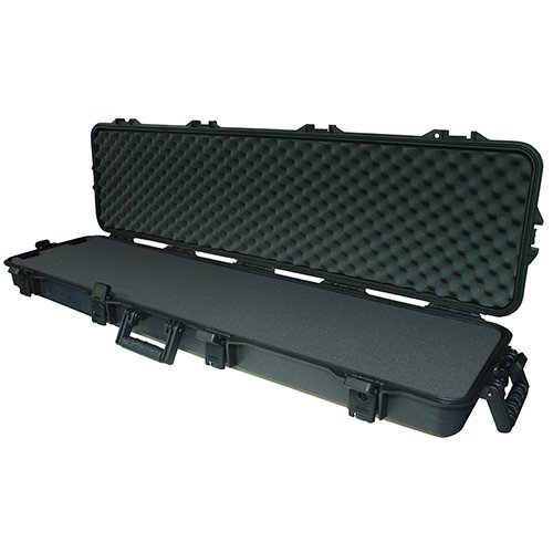 Doppelter Gewehrkoffer, wetterfest, 137,2cm, schwarzer Griff (Plano Waffenkoffer)