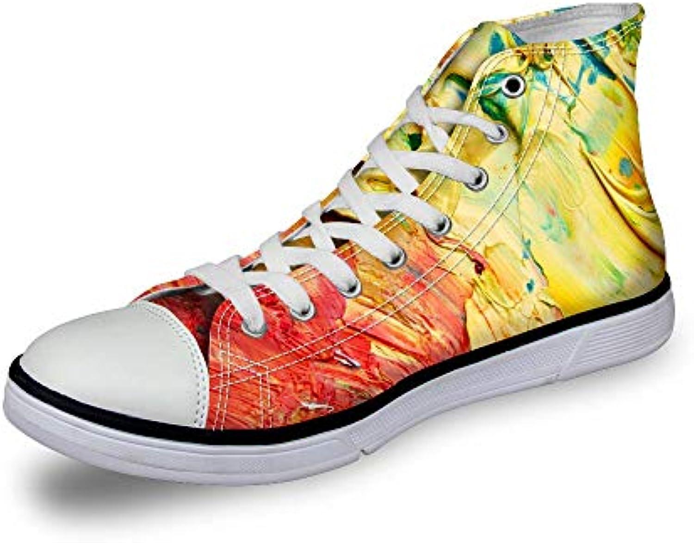 HCBYJ scarpe Scarpe sportive casual da uomo con tomaia piatta con stampa 3D in tela vulcanizzata | Vendendo Bene In Tutto Il Mondo  | Uomini/Donne Scarpa