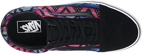 Vans Old Skool Scarpe da skater, Basse, Unisex, Adulto Multicolore (Moroccan Geo black/true white)