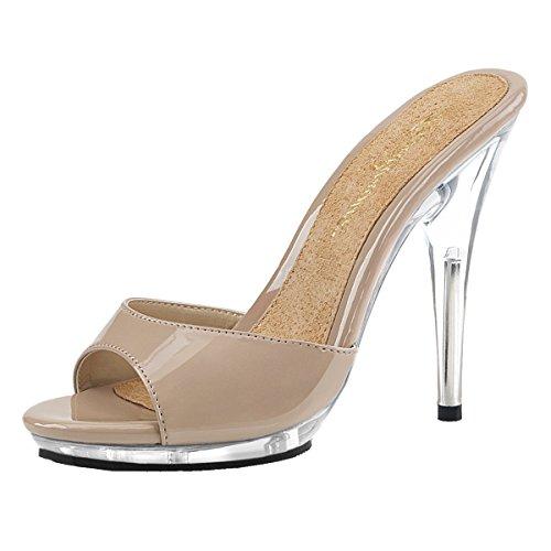 Heels-Perfect, Mules pour Femme Beige