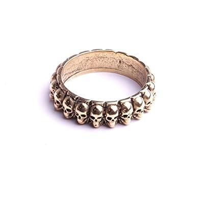 Bague chevalière tête de morts bijoux de créateur pour femme et hommes anneau finition plaquage argent ou, or marque By Mode France