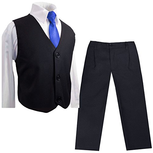 Paul Malone Kinder Weste für Jungen 4tlg festlich marine blau + Krawatte + Hemd + Hose