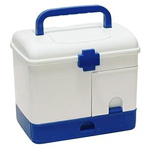 GANADA Hausapotheke Box Aufbewahrungsbox Mehrschichtig Erste Hilfe Box Medizinbox Aufbewahrungskasten Lagerung Medikamente für Familie, Reisen, Rettung