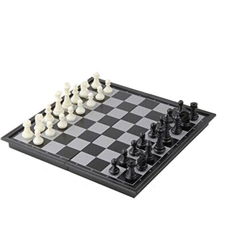 EFORCAR Tragbare Reise Magnetic Chess Set faltbare Brett Schach-Spiel 25x25cm Relax