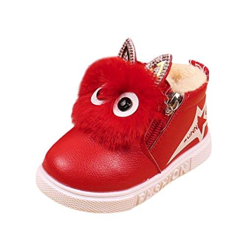 Kolylong® Stiefel Mädchen (1-6 Jahre Alt) Kinder Baby Mädchen Karikatur Sneaker Stiefel Herbst Winter Warme Schnee Stiefel Wasserdichte Winterstiefel Kleinkind Schuhe Babyschuhe (28, ()