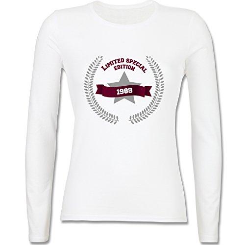 Geburtstag - 1989 Limited Special Edition - tailliertes Longsleeve / langärmeliges  T-Shirt für Damen
